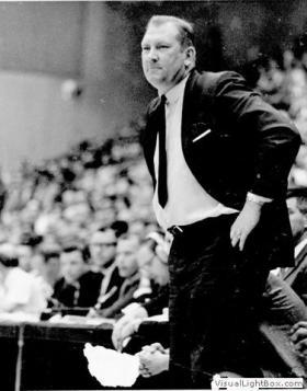 Don Haskins coaching the 1966 NCAA Championship team