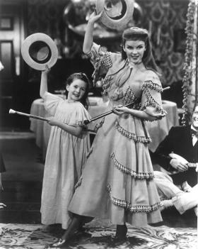 "Margaret O'Brien and Judy Garland, ""Meet Me in St. Louis"""