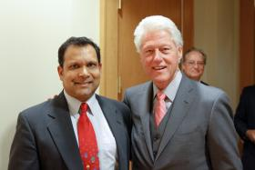 Arvind Singhal with former President Bill Clinton