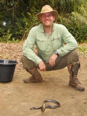 Eli Greenbaum with a water cobra