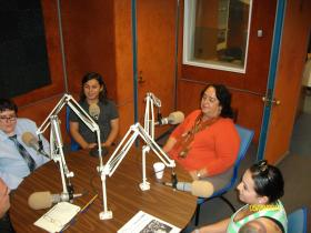 Our Guests from the UTEP department of History: From left to right: Gustavo del Hierro, Carlos Varela, Dr. Yolanda Leyva, Angelica Martinez.