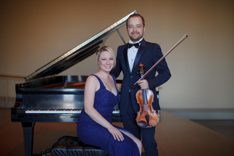 Nikita Borisevich, violinist and Margarita Loukachkina, pianist