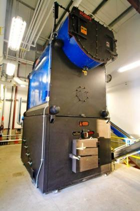 Tok School's biomass boiler provides heat and, when tests are completed, electricity for the main schoolhouse. A larger system would be required for the proposed Fort Greely project.