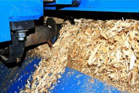 Biomass-fueled heat and power plants proposed for Tok and Fort Greely would use wood chips like these at a new biomass facility at Tok School as fuel. The chips are made by grinding trees harvested from nearby state forest land.