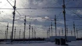 The array of 180 high-power-transmitting antennas at the HAARP facility are used to alter the ionosphere for military and academic research projects.