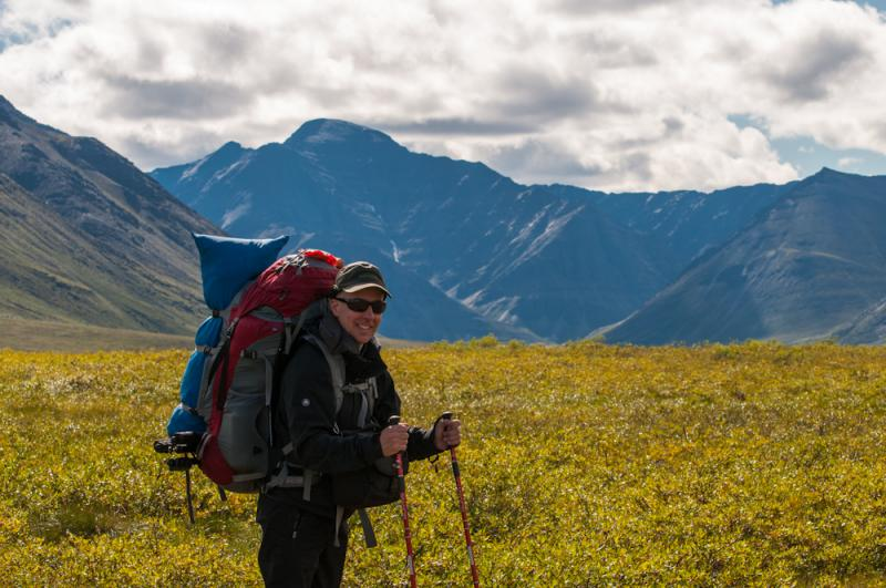 Stephen Lias takes in the tundra in Gates of the Arctic National Park and Preserve.