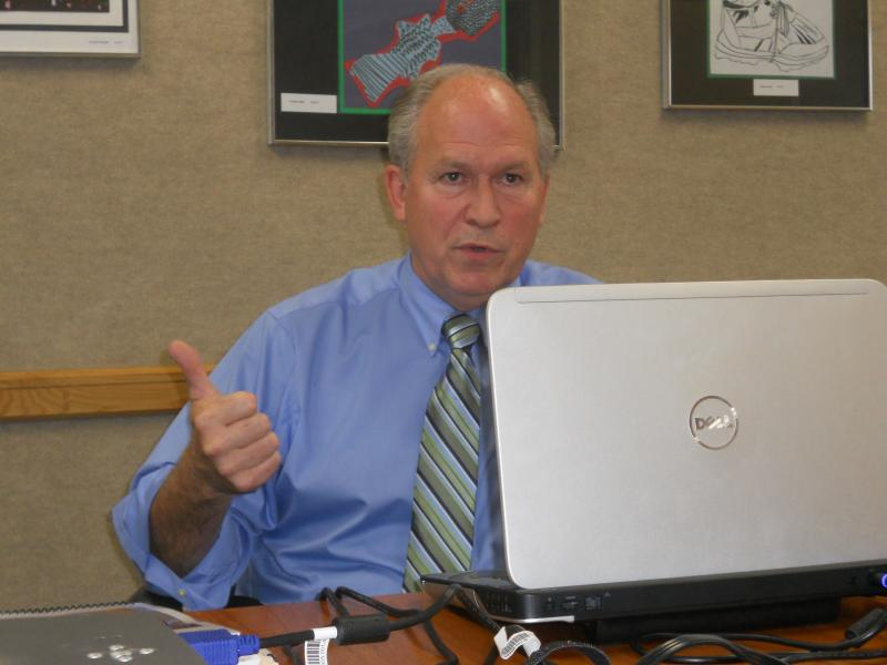 AGPA Project Manager Bill Walker speaks at a press conference in Fairbanks.