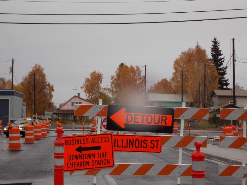 Illinois Street detour
