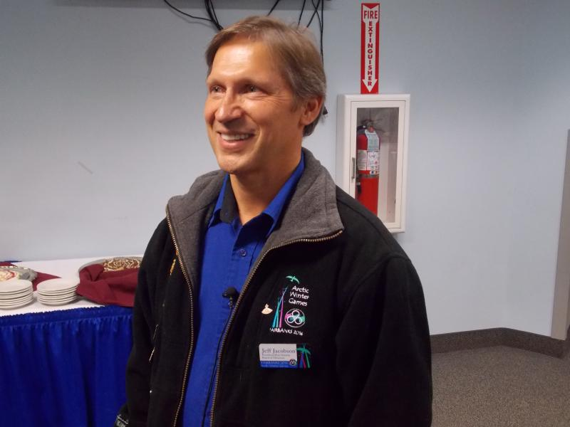Fairbanks Arctic Winter Games Board President Jeff Jacobson