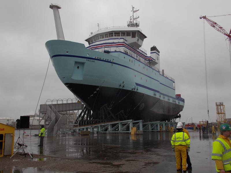 Sikuliaq poised for launch