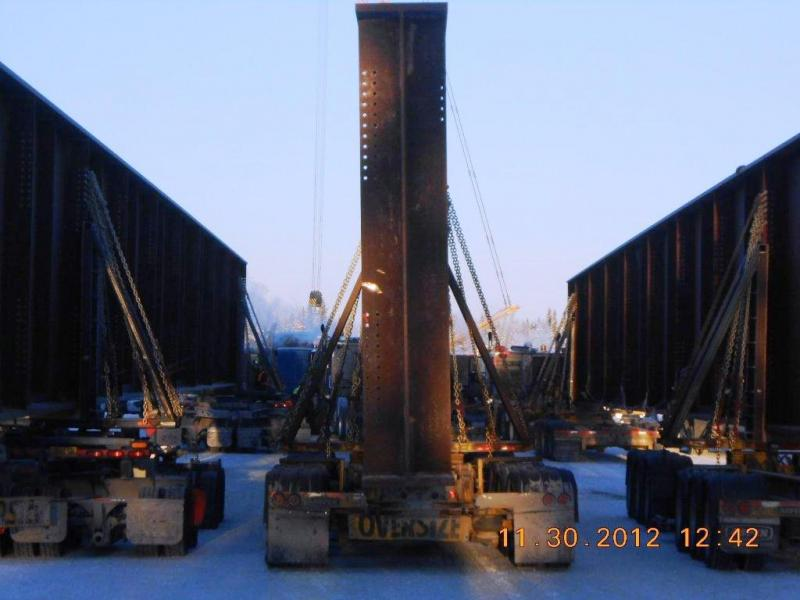 The girders on edge measure 11-feet-3-inches tall.