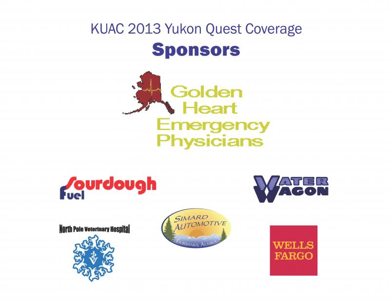 Sponsors of KUAC's 2013 Yukon Quest Coverage