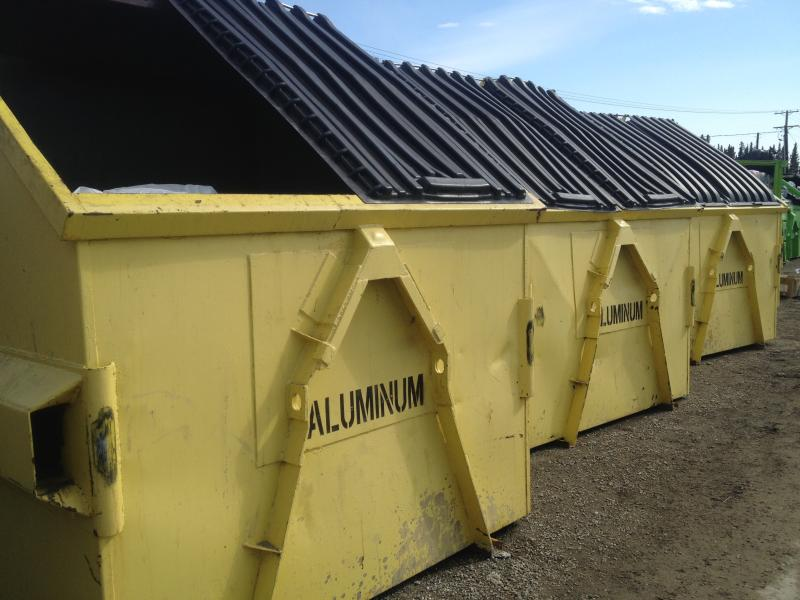 Dumpsters for aluminum have recently been emptied.