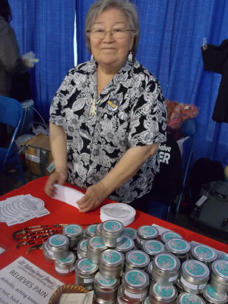 Caribou Leaf Salve maker Flo Kenney of Juneau