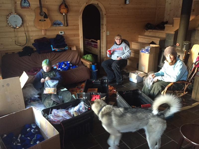 The inside of Cody Strathe's house was bustling with activity as he prepared his drop bags