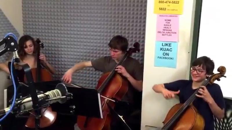 Alaska Cello Intensive students playing live on KUAC
