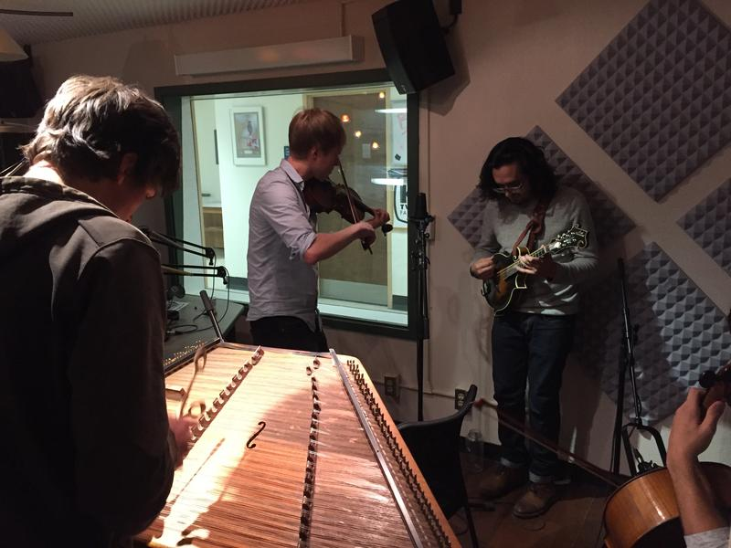 Simon Chrisman, hammered dulcimer; Jeremy Kittel, fiddle; Joshua Pinkham, mandolin