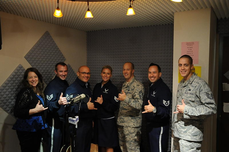 All smiles with USAF Band of the Pacific and Eielson Air Force Base