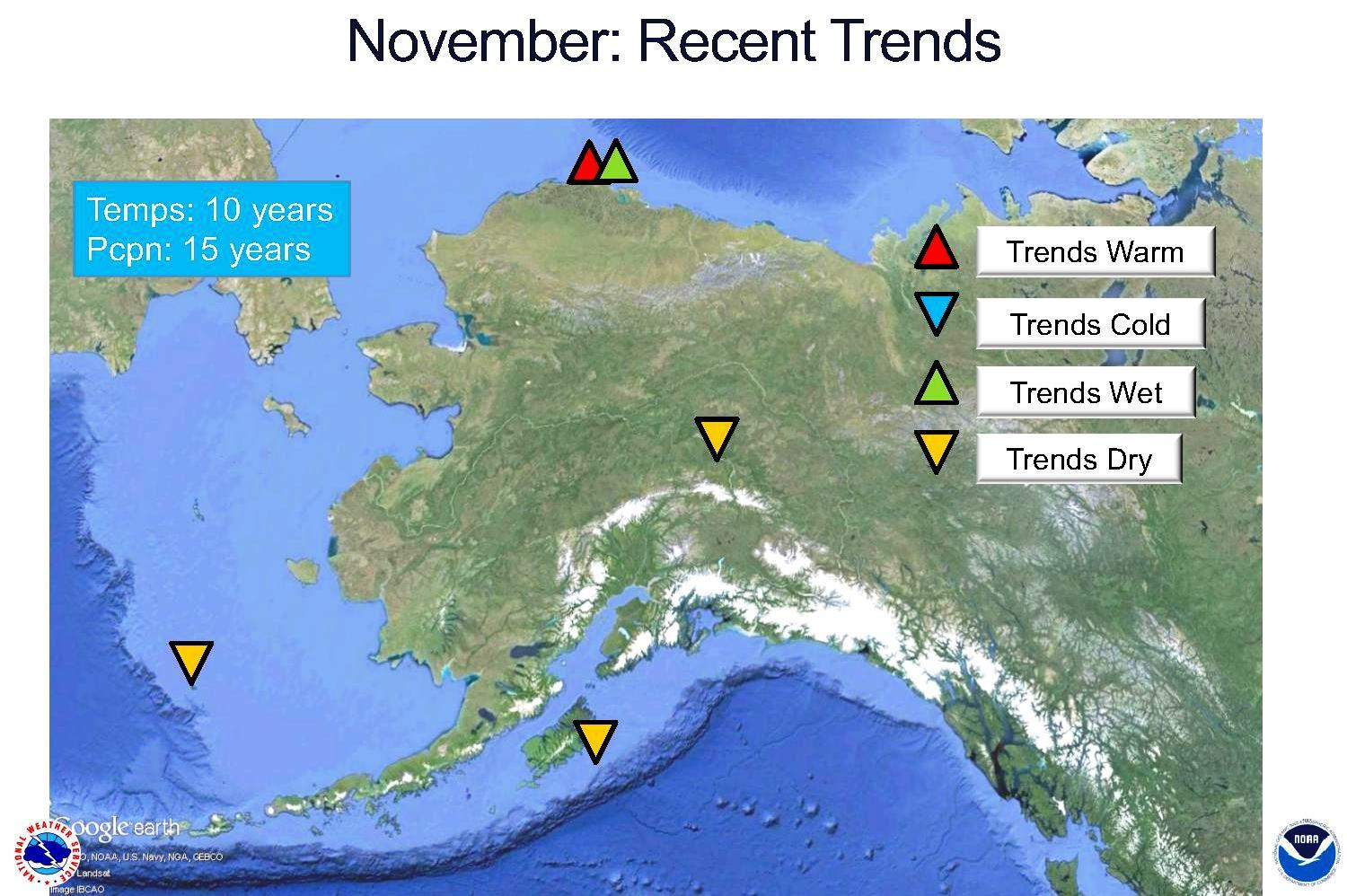 The National Weather Service Has Kept Records For Than A Century On Alaska S Weather But Thoman Relies On More Recent Trends For His 2016 17 Winter