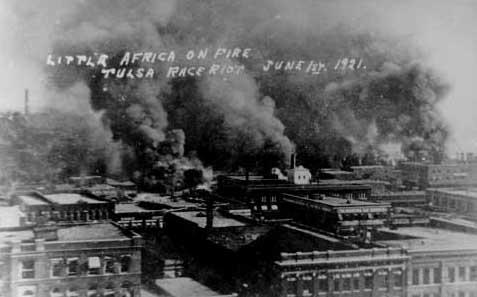 "Tulsa's African American Greenwood District, also known as ""America's Black Wall Street"" was completely destroyed by race war in the early 1920s"