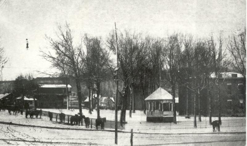 Harrison town square circa 1900