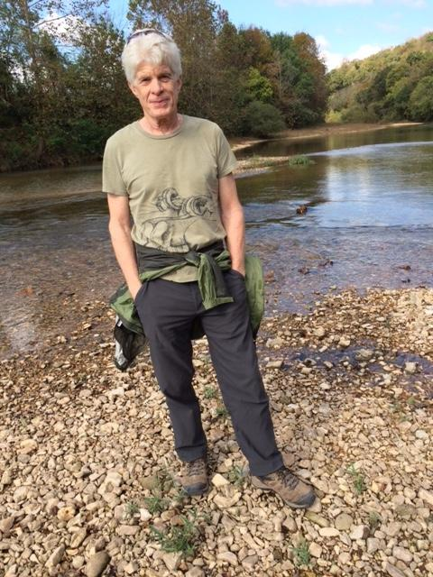 "USGS Water Quality scientist Tim Kresse poses near the Kings River. Kresse was the lead author on ""The Aquifers of Arkansas,"" a comprehensive guide to the aquifers of the state."