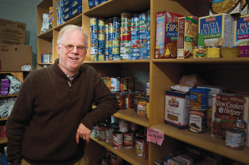 Kevin Fitzpatrick, director of the Community and Family Institute, studies how social factors affect access to food.