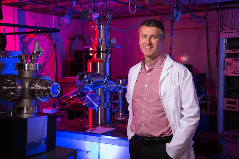 Paul Thibado works with graphene, a promising new material for the next generation of electronic devices.