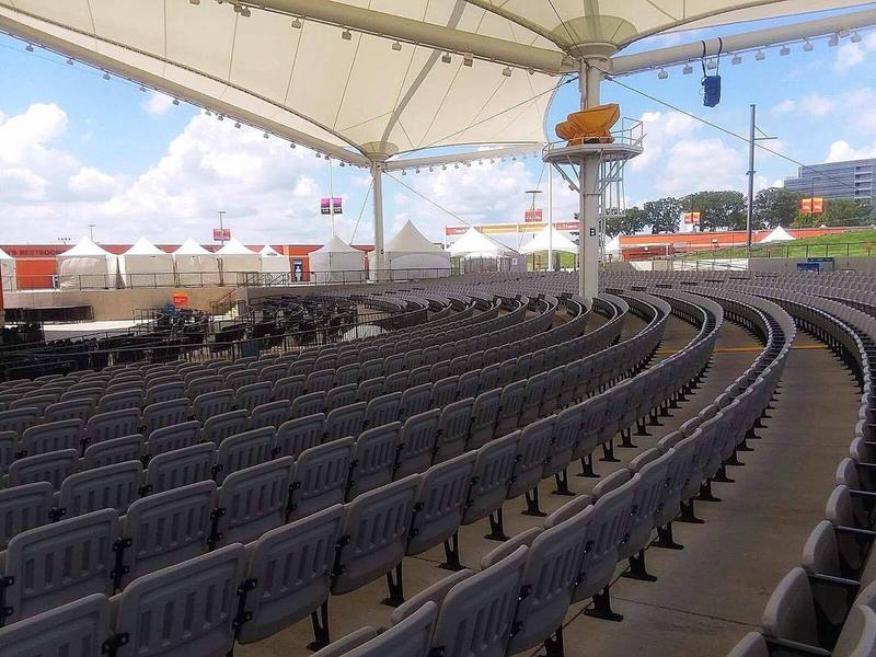 The capacity at the Walmart AMP changes depending on the demographic of the performer and the configuration of the stage.