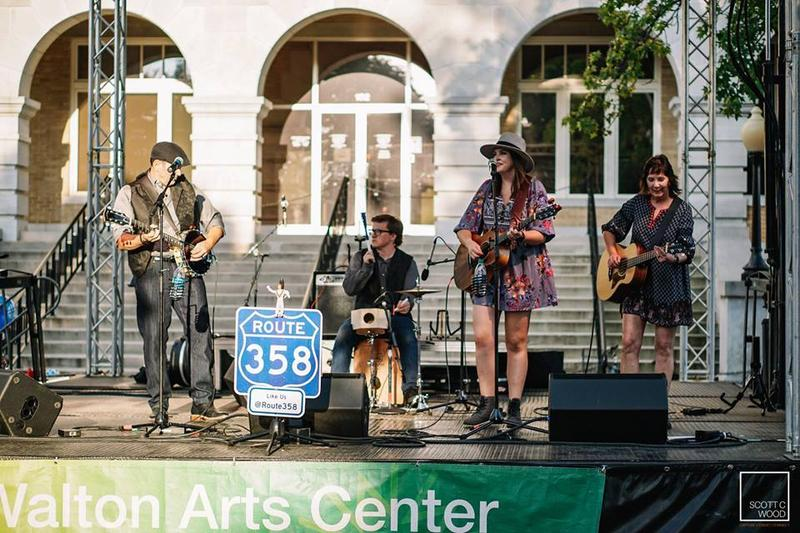 Route 358 performs during a First Friday event in Bentonville. The band's new album debuts Sept. 22.