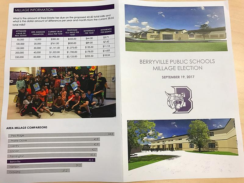 The pamphlet also provides a comparison of millage rates in cities with school districts similar to Berryville.