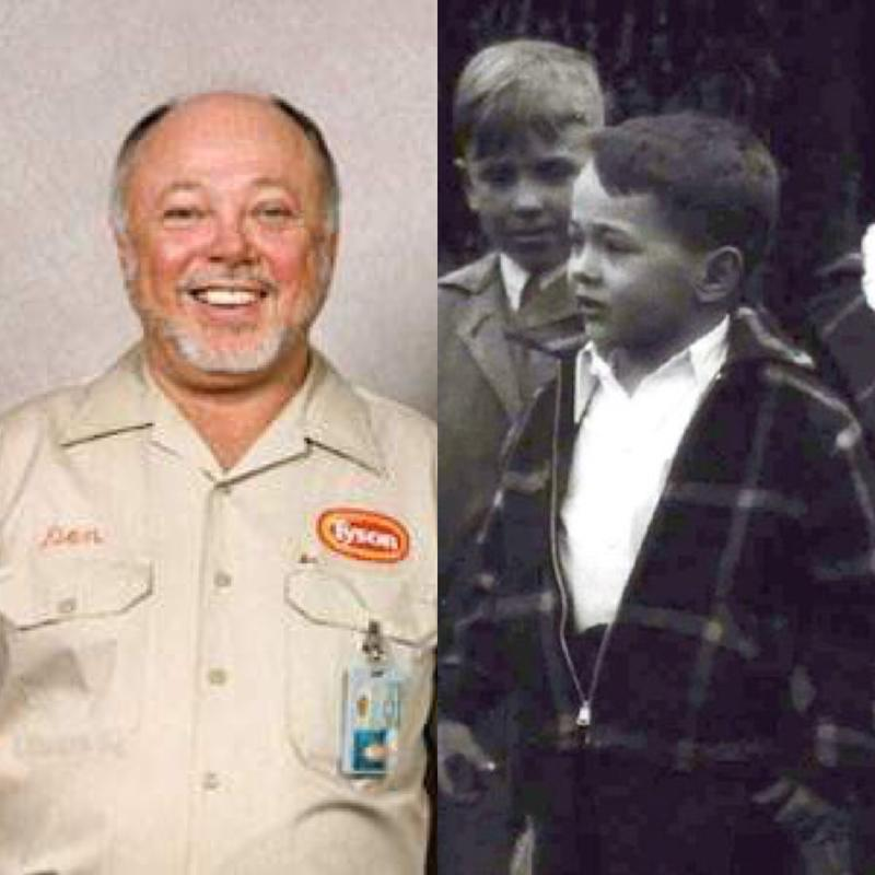 Don Tyson as president and CEO of Tyson Foods and as the leader of the small boys gang in the Kidnappers Foil.
