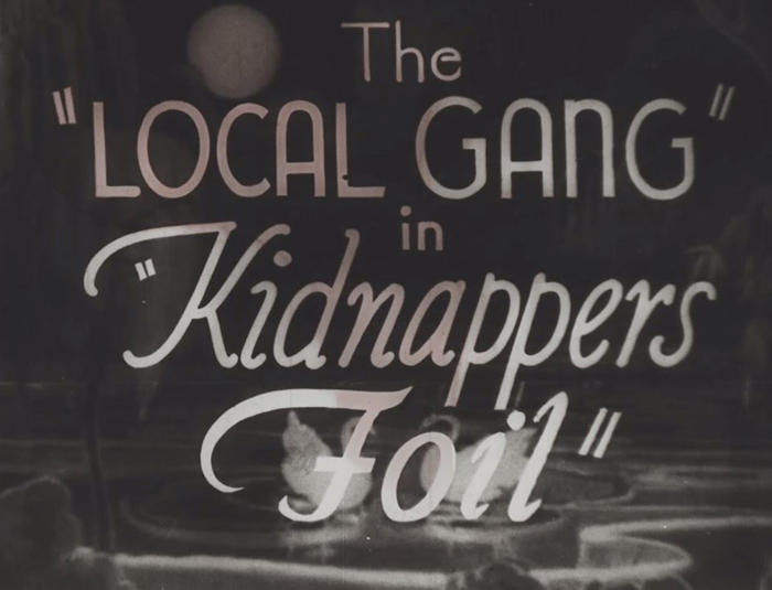 The title frame of Melton Barker's Kidnappers Foil film series, which was named to the 2012 National Film Registry by the Library of Congress.