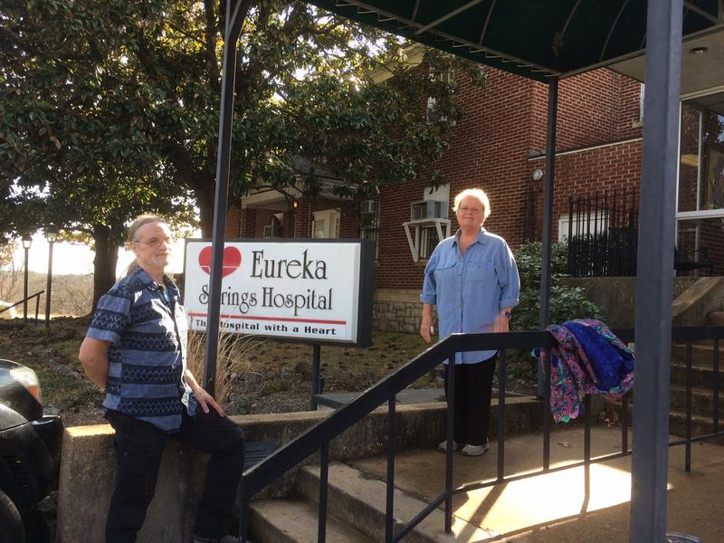 Eureka Springs Hospital Commission chair Michael Merry and treasurer Barbara Dicks are working to renovate the hospital.
