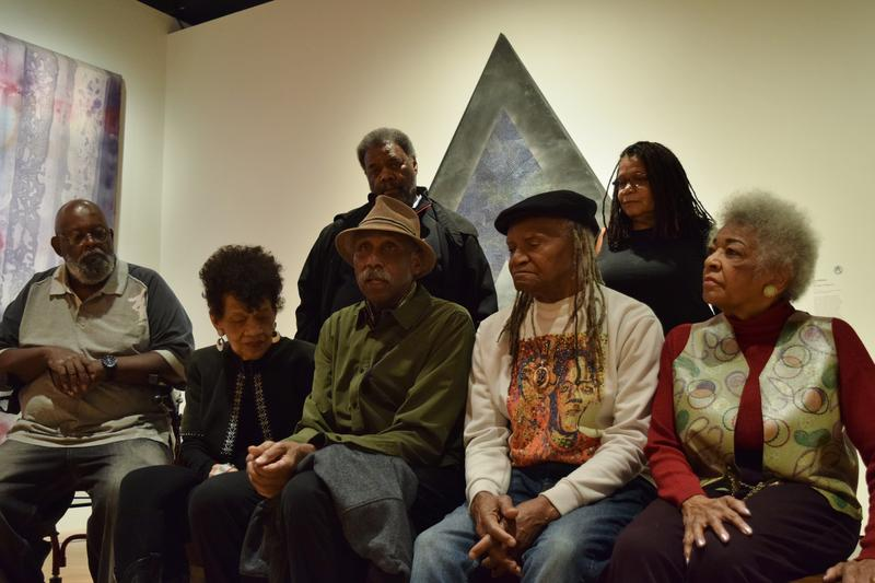 Photographer Adger Cowans and other artists featured in Soul of a Nation answer questions during a media tour Feb. 2.