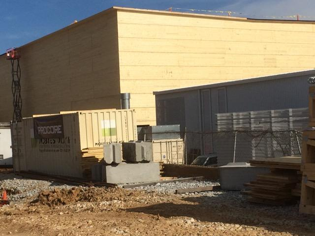 The new UA Libraries storage facility under construction on Hill Avenue in South Fayetteville