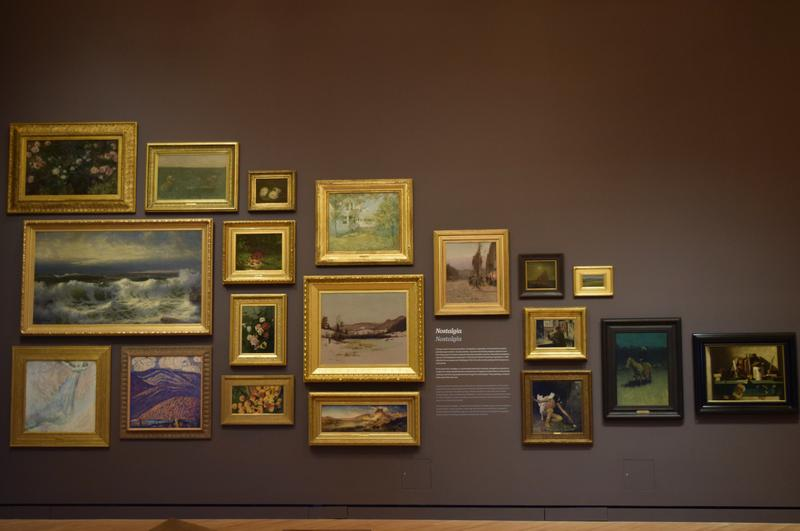 At the end of the Early American Art Galleries, more than 40 works are hung in the Paris Salon style.