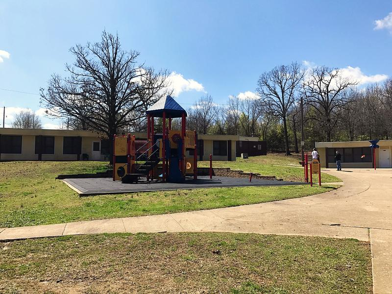 A playground and community center are part of the Lewis Plaza property.