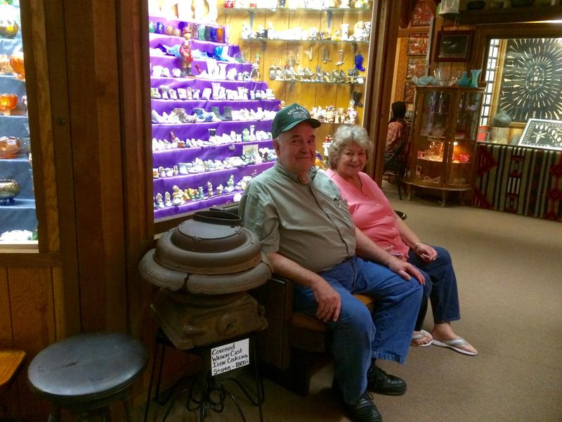 Winfred and Lee Ona Prier, owners of Golden Pioneer Museum.
