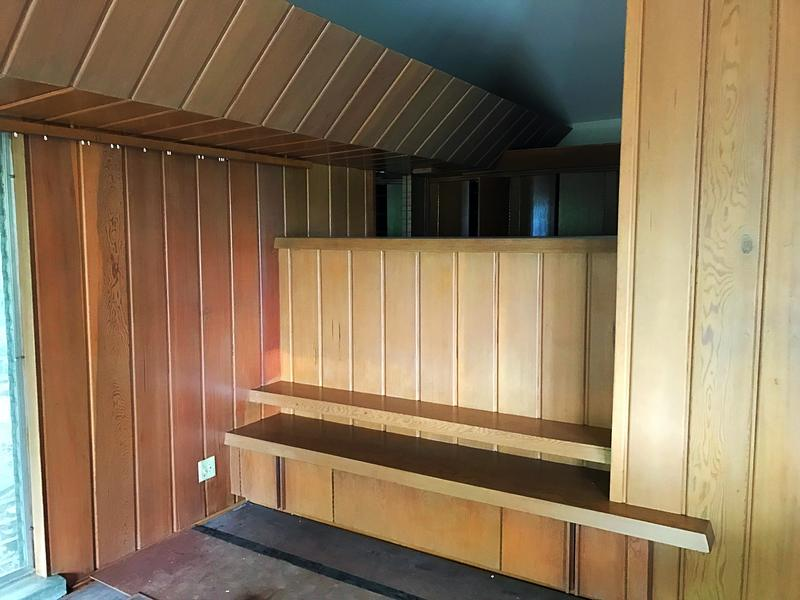 Even the space for the bed was built into the house.