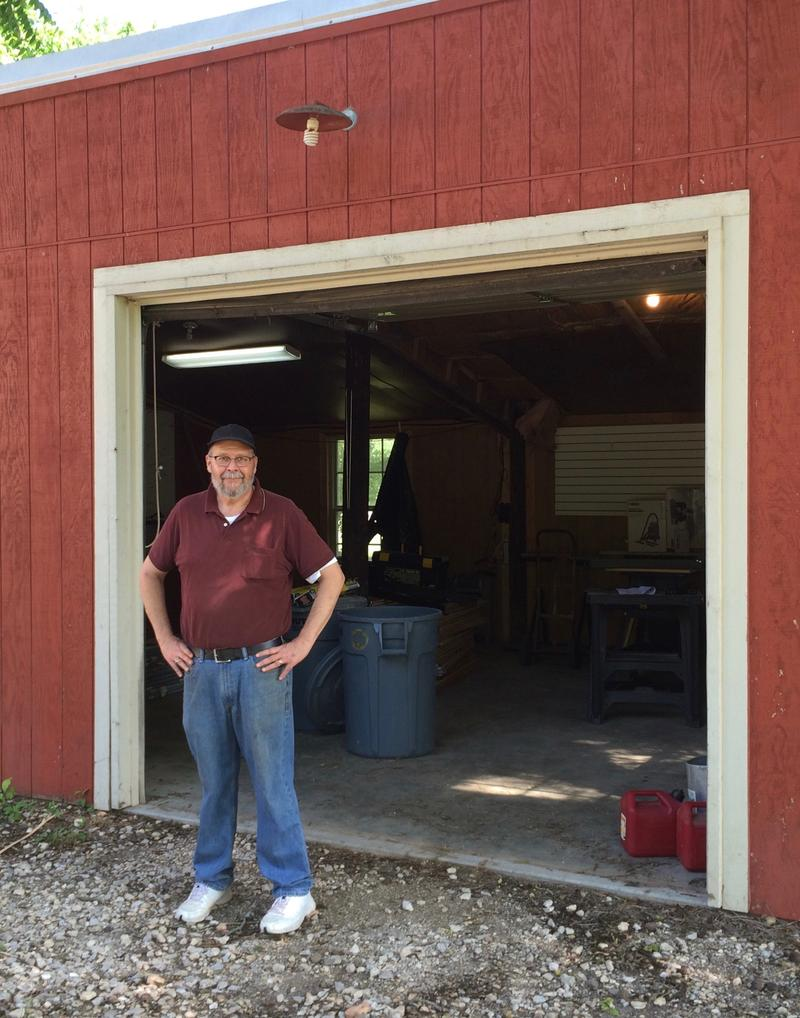 Bob Byers, a parent volunteer, is building the school's new STEAM lab in a former barn.