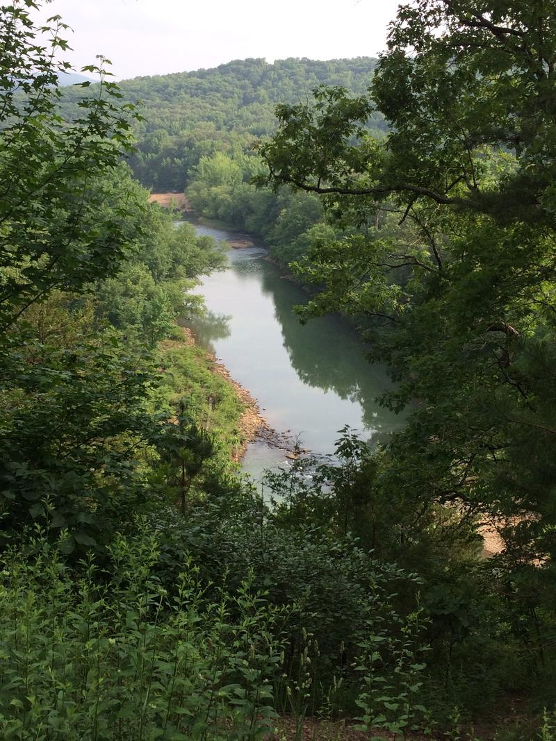 One of several Mulberry River panoramic viewing sites constructed along Highway 215.