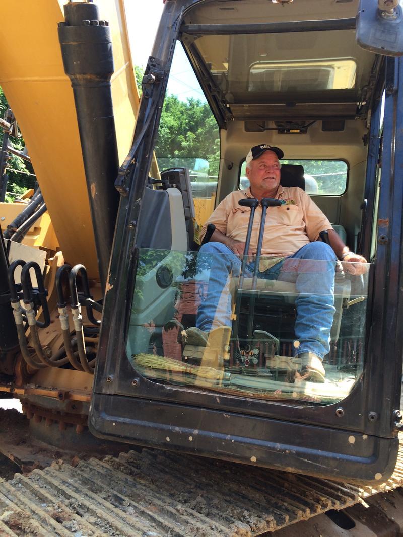 Excavator Jimmy Jones of Berryville says repairs will take several weeks.