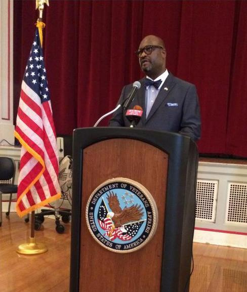 Kelvin Parks, interim medical director for the Veterans Health Care System of the Ozarks provides a timeline of events Monday morning to media.