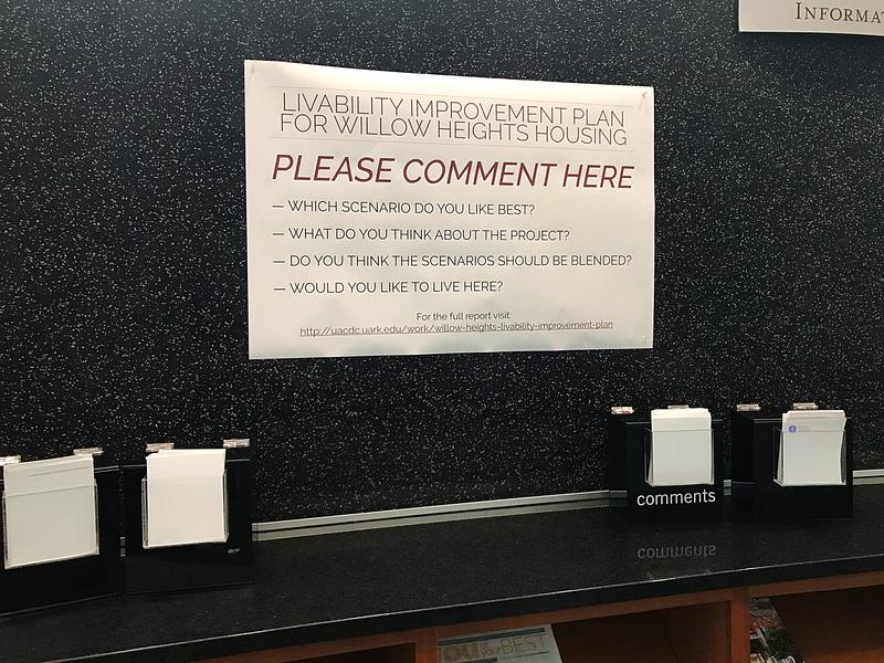 Comment cards have been set up in the library lobby as well.
