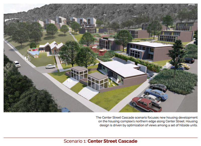 Design #1 from the U of A Community Design Center is called Center Street Cascade.