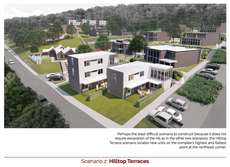 Design #2 from the U of A Community Design Center is called Hilltop Terraces.