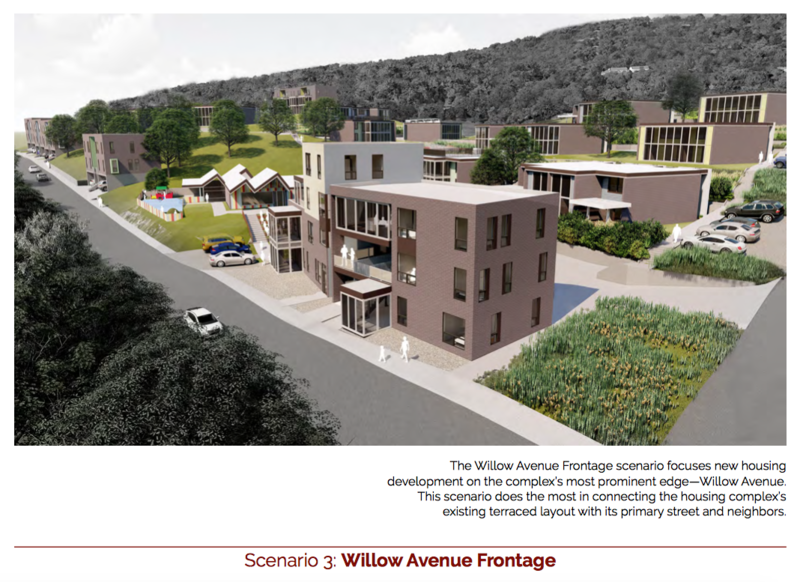 Design #3 from the U of A Community Design Center is called Willow Avenue Frontage.