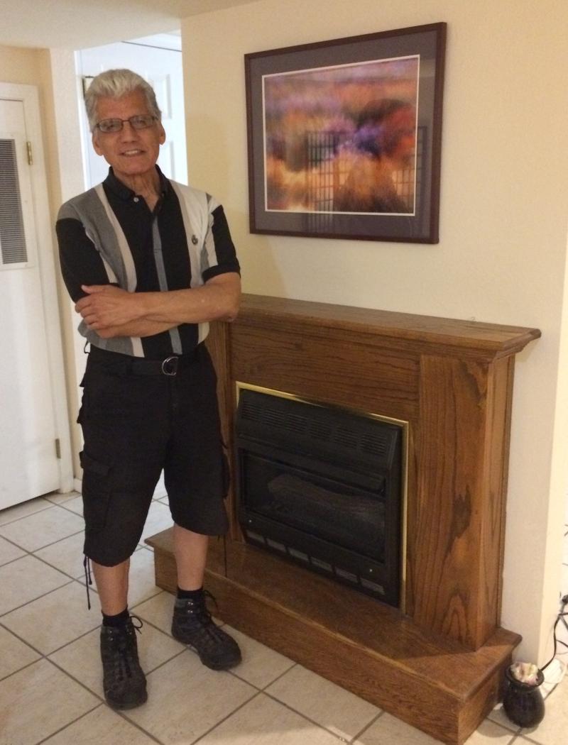 Eli Vega exhibits his photo artworks inside his home gallery in Eureka Springs.