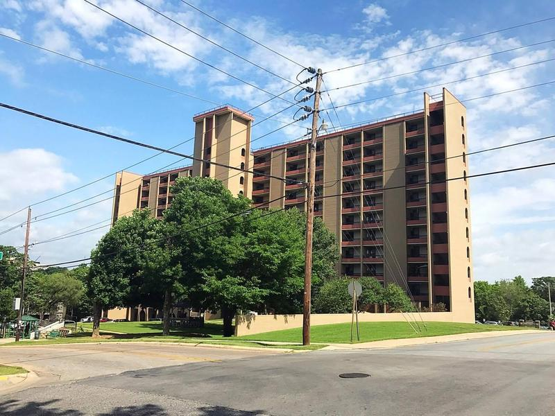 Fayetteville Housing Authority's Hillcrest Towers property as seen in June 2017.